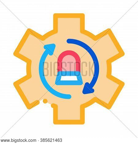Signalization Code Mistake Working Process Icon Vector. Signalization Code Mistake Working Process S