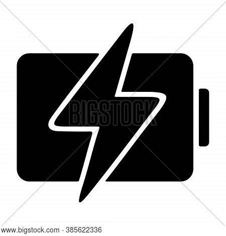 Battery Charging Icon. Mobile Charge, Smartphone Or Laptop Battery Charge. Power, Energy, Electric S