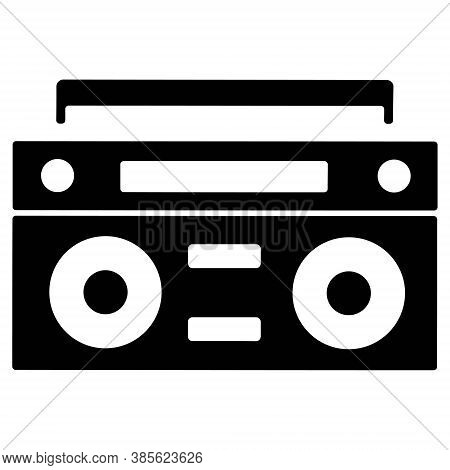 Tape Recorder Icon. Retro Audio Player, Boombox Vector Illustration. Cassette Player, Cassette Recor