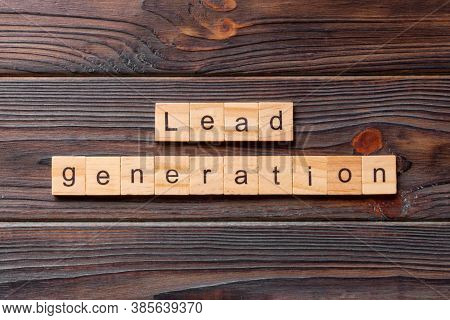 Lead Generation Word Written On Wood Block. Lead Generation Text On Table, Concept
