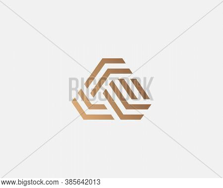 Abstract Golden Gradient Letter A Logo Design Template Icon Sign. Creative Foundation Construction T