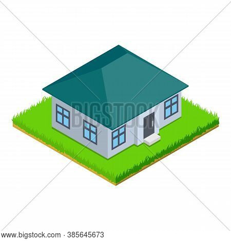 Rustic House Icon. Isometric Illustration Of Rustic House Vector Icon For Web