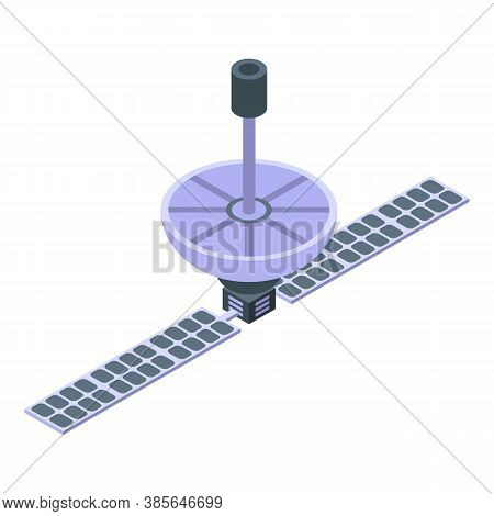 Satellite Antenna Space Station Icon. Isometric Of Satellite Antenna Space Station Vector Icon For W