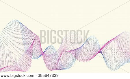 Vector Light Background With Bright Wave Effects. Suitable For Posters, Slide Presentations On The M