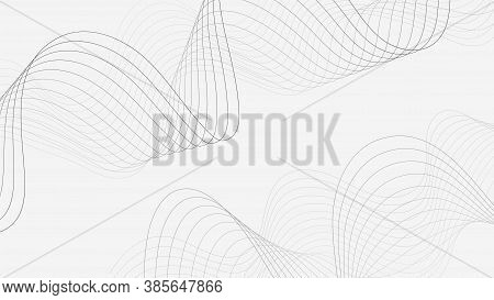 Vector Light Background With Wave Effects. Suitable For Posters, Slide Presentations On The Medicine