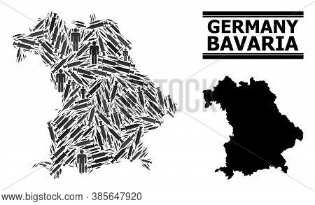 Covid-2019 Treatment Mosaic And Solid Map Of Bavaria State. Vector Map Of Bavaria State Is Formed Of