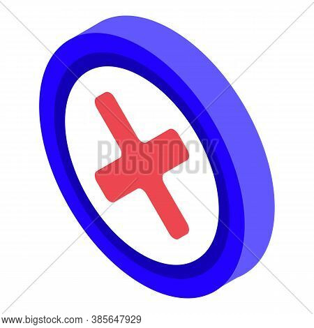 Quality Assurance Restricted Icon. Isometric Of Quality Assurance Restricted Vector Icon For Web Des