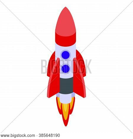 Quality Assurance Fly Rocket Icon. Isometric Of Quality Assurance Fly Rocket Vector Icon For Web Des