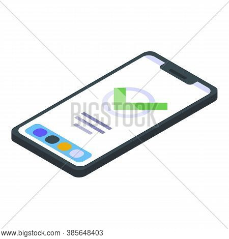 Quality Assurance Smartphone Icon. Isometric Of Quality Assurance Smartphone Vector Icon For Web Des