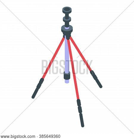 Tripod Icon. Isometric Of Tripod Vector Icon For Web Design Isolated On White Background