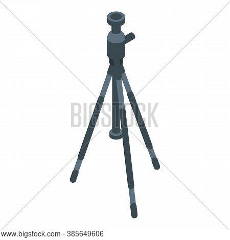 Photo Camera Tripod Icon. Isometric Of Photo Camera Tripod Vector Icon For Web Design Isolated On Wh