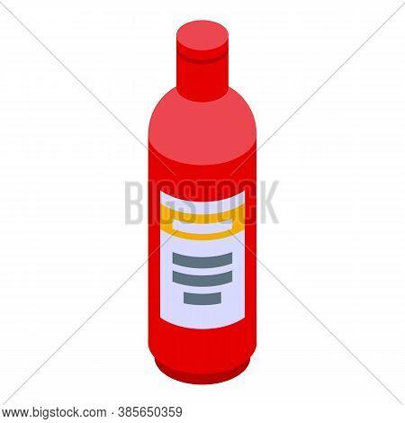 Washcloth Cleaner Bottle Icon. Isometric Of Washcloth Cleaner Bottle Vector Icon For Web Design Isol