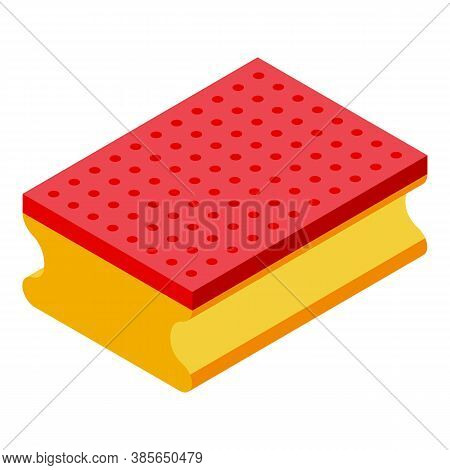 Washcloth Sponge Icon. Isometric Of Washcloth Sponge Vector Icon For Web Design Isolated On White Ba