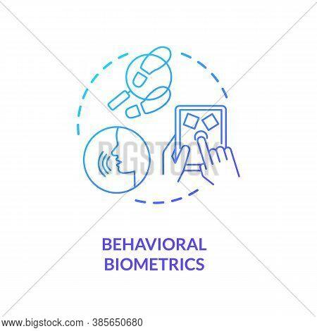 Behavioral Biometrics Concept Icon. Scanning Behaviour Pattern. Speech Recognition Devices. Biometri