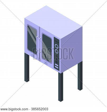 Restaurant Convection Oven Icon. Isometric Of Restaurant Convection Oven Vector Icon For Web Design