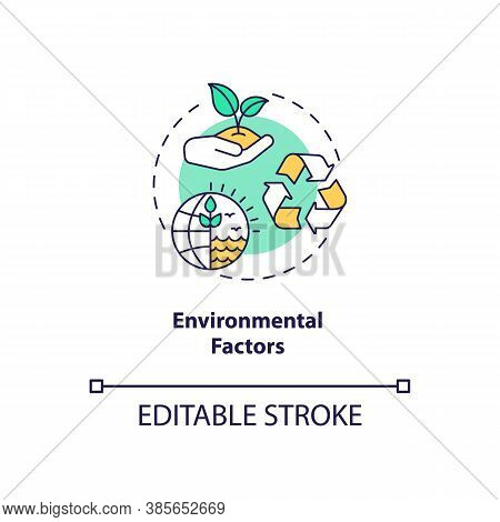 Environmental Factors Concept Icon. Pestel Analysis. Cooperation With One Goal. Communication Troubl