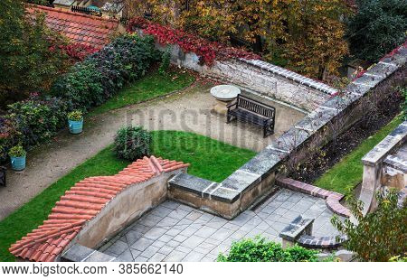 beautiful house with garden in yard