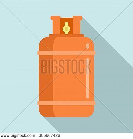 Gas Cylinder Bottle Icon. Flat Illustration Of Gas Cylinder Bottle Vector Icon For Web Design
