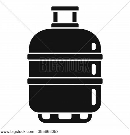 Gas Cylinder Butane Icon. Simple Illustration Of Gas Cylinder Butane Vector Icon For Web Design Isol