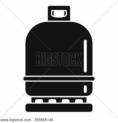 Gas Cylinder Compressed Icon. Simple Illustration Of Gas Cylinder Compressed Vector Icon For Web Des
