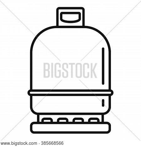 Gas Cylinder Compressed Icon. Outline Gas Cylinder Compressed Vector Icon For Web Design Isolated On