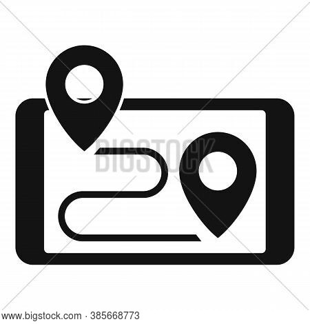 Smartphone Gps Exploration Icon. Simple Illustration Of Smartphone Gps Exploration Vector Icon For W