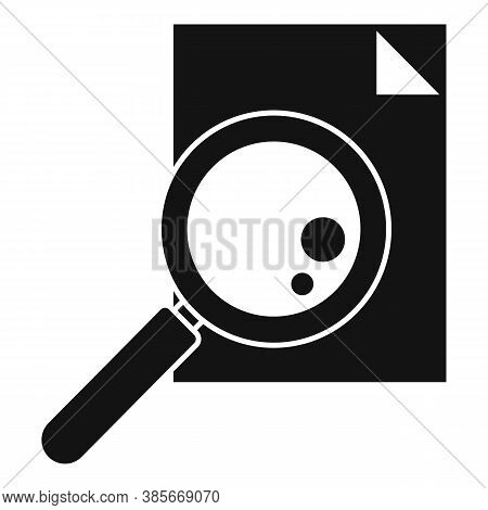 Paper Magnifier Exploration Icon. Simple Illustration Of Paper Magnifier Exploration Vector Icon For