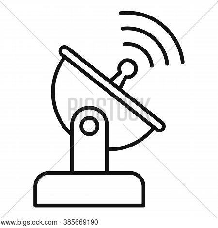 Ground Antenna Icon. Outline Ground Antenna Vector Icon For Web Design Isolated On White Background
