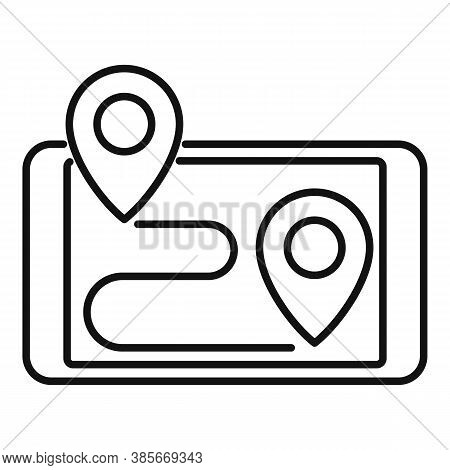 Smartphone Gps Exploration Icon. Outline Smartphone Gps Exploration Vector Icon For Web Design Isola