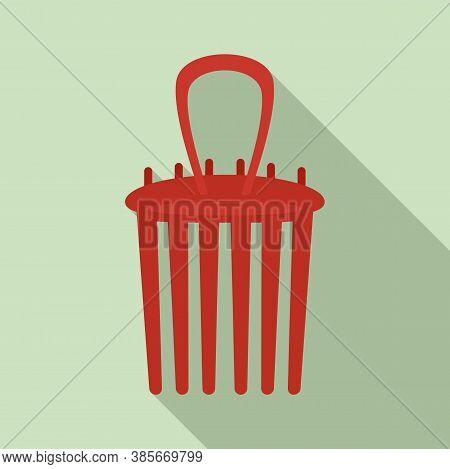 Tool Barrette Icon. Flat Illustration Of Tool Barrette Vector Icon For Web Design