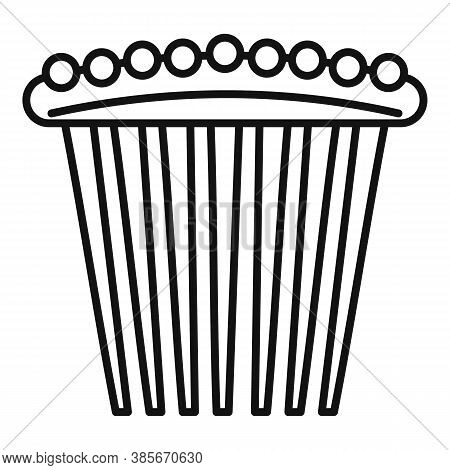 Pin Barrette Icon. Outline Pin Barrette Vector Icon For Web Design Isolated On White Background