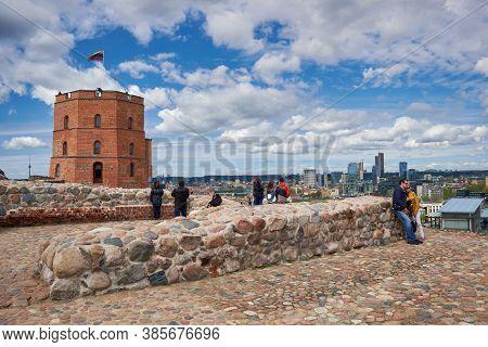 Vilnius, Lithuania - May 09, 2017: Gediminas Tower, Vilnius, Lithuania.