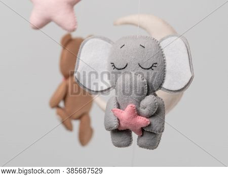 Baby Crib Mobile - Kids Toys, On Light Background