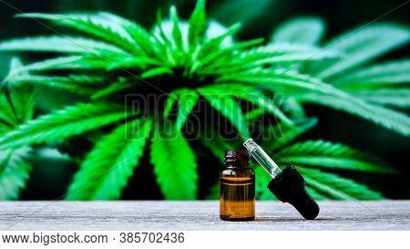 Hemp Cbd Oil Pipette, Marijuana Oil Bottle, Cannabis Extracts In Jars, Medical Marijuana, Alternativ