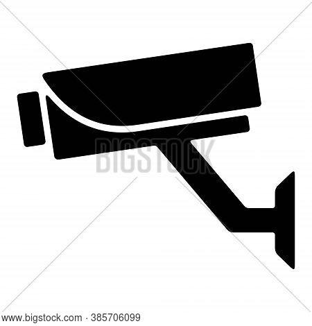 Video Surveillance Icon Vector Illustration. Cctv Camera, Security Camera Symbols. 7/24 Video Monito