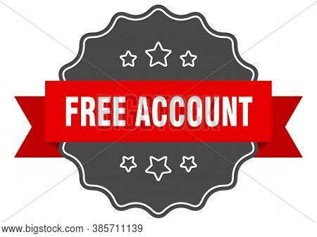 Free Account Label. Free Account Isolated Seal. Sticker. Sign