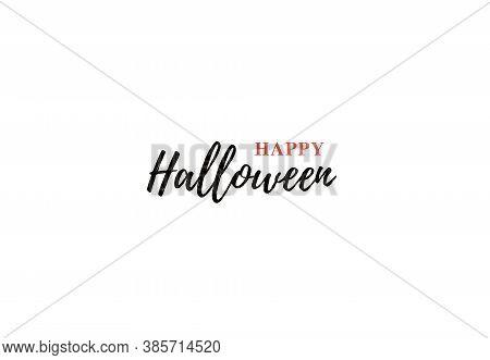 Happy Halloween Typo. Vector Logo Design Element.