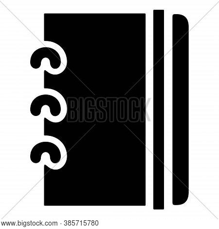 Notebook Icon. Business Agenda, Personal Diary, Note Pad Symbol. Take Notes Illustration. Notepad Ic
