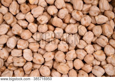 Close Up Of A White Chickpea Beans