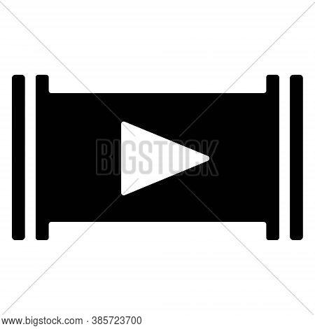 Play Icon Illustration. Video, Movie, Film Player Sign. Music, Media Start Button. Multimedia Option