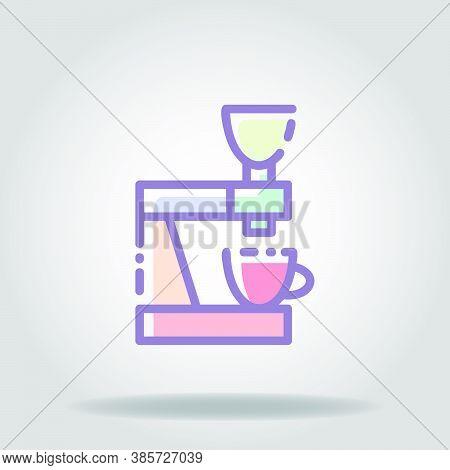 Grinder Icon Or Logo In  Pastel Color 3