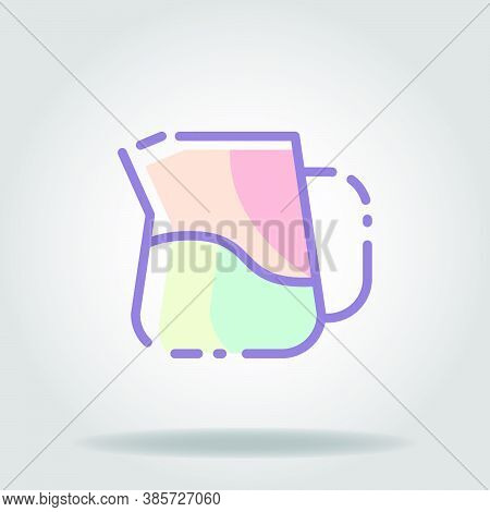 Milk Froather Icon Or Logo In  Pastel Color