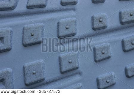 Gray Background Of A Piece Of Plastic Sole With A Pattern