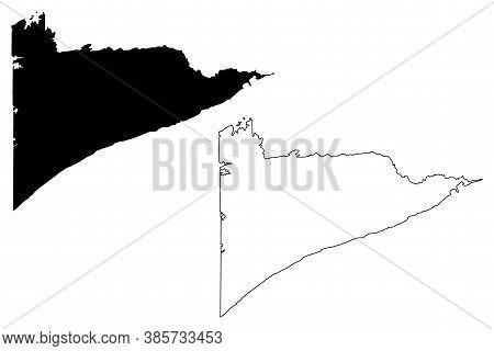 Cook County,  Minnesota (u.s. County, United States Of America, Usa, U.s., Us) Map Vector Illustrati