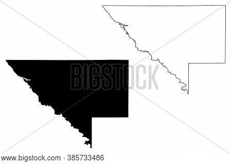 Chippewa County,  Minnesota (u.s. County, United States Of America, Usa, U.s., Us) Map Vector Illust