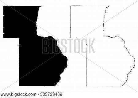 Chisago County,  Minnesota (u.s. County, United States Of America, Usa, U.s., Us) Map Vector Illustr