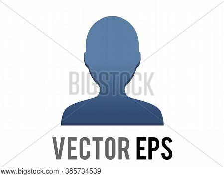 Vector Dark Blue Silhouette Generic Profile Of One Person Icon