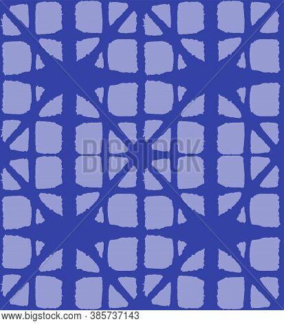 Japanese Tie Dye Seamless Pattern. Premium Japanese Clothes Print. Bohemian Kimono Textile. Geo Arc
