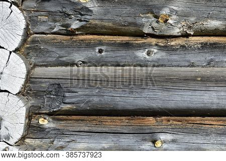 Corner Of A Log House, Old Building, Background