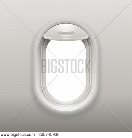 Aircraft Window Realistic Mock-up - Element Or Fuselage Of Airplane - Air Flight Tourism